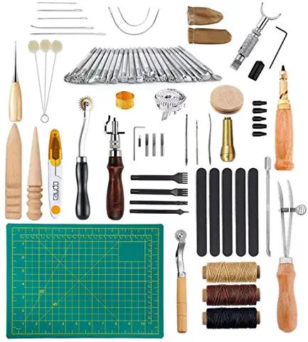 Artesanía del Cuero, 50 Piezas Juegos y Kits de Costura
